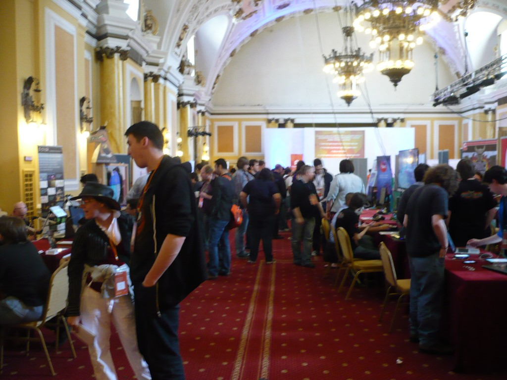 A relatively small space, but packed with more variety than the average expo or con.
