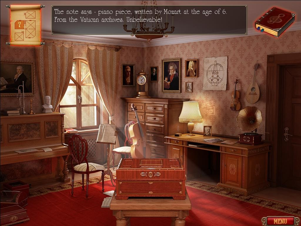 Five rooms, each filled with bits of music trivia and puzzles for your puzzle box.